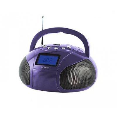 Аудиомагнитола Rolsen RBM-411 фиолетовый (1-RLAM-RBM411VI)