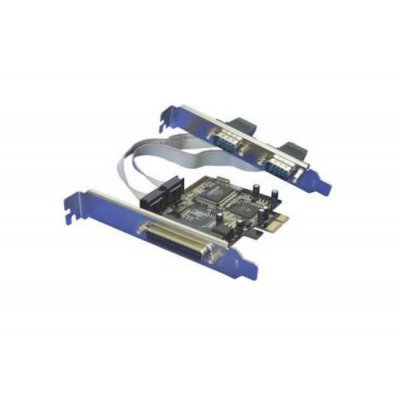 Контроллер Orient XWT-PE2S1P, PCI-E --> 2xCOM+1LPT, MCS9901CV, oem (XWT-PE2S1P) контроллер orient xwt pe1pv2 pci e to lpt 1 port wch ch382 oem