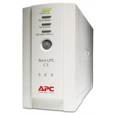 Источник бесперебойного питания APC Back-UPS 500, 230V (BK500EI)Источники бесперебойного питания APC<br>500VA/300W, 230V, USB, Data line surge protection, user repl. batt., PowerChute<br>