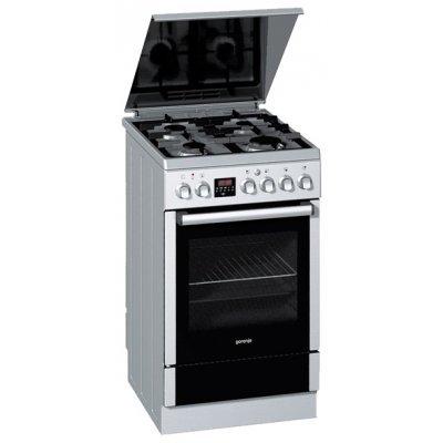 Комбинированная плита Gorenje K55320AX (K55320AX)Комбинированные плиты Gorenje<br>85x50x60, газовая, духовка электрическая<br>