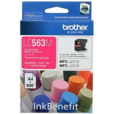 Картридж Brother LC563M пурпурный для MFC-J2510 (600 стр) (LC563M) картридж brother lc565xlm magenta для mfc j2510 mfc j2310 mfc j3720 mfc j3520