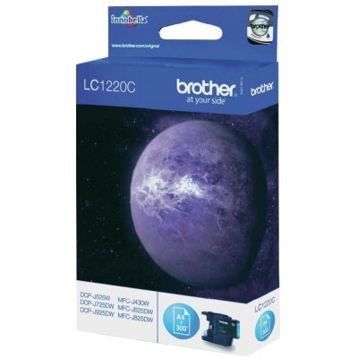 Картридж Brother LC1220C голубой для MFC-J430W/J825DW/DCP-J525W черный (300 стр) (LC1220C) refillable ink cartridge for brother lc79 lc73 lc17 lc400 lc1220 lc1240 lc75 for mfc j425w j430w j435w j625dw j825dw j835dw