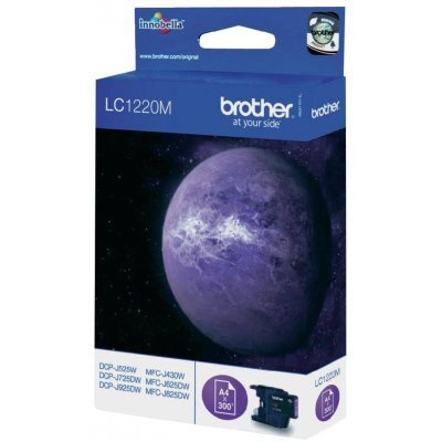 Картридж Brother LC1220M пурпурный для MFC-J430W/J825DW/DCP-J525W черный (300 стр) (LC1220M) refillable ink cartridge for brother lc79 lc73 lc17 lc400 lc1220 lc1240 lc75 for mfc j425w j430w j435w j625dw j825dw j835dw