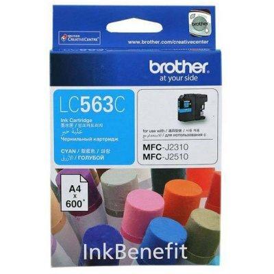 Картридж Brother LC563C голубой для MFC-J2510 (600 стр) (LC563C)Картриджи для струйных аппаратов Brother<br>струйный<br>