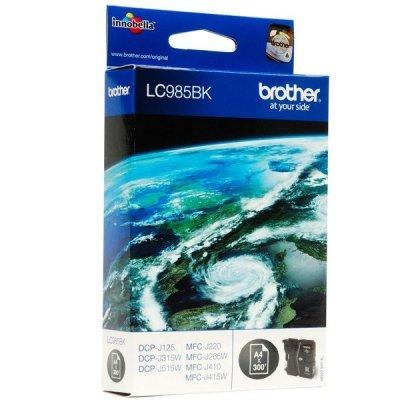 Картридж Brother LC985BK черный для DCP-J315W/J515W/J265W черный (300стр) (LC985BK)Картриджи для струйных аппаратов Brother<br>струйный<br>