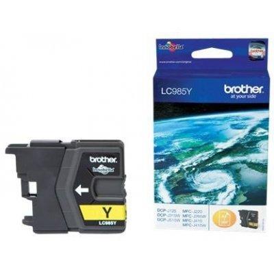 Картридж Brother LC985Y желтый для DCP-J315W/J515W/J265W черный (260стр) (LC985Y)Картриджи для струйных аппаратов Brother<br>струйный<br>