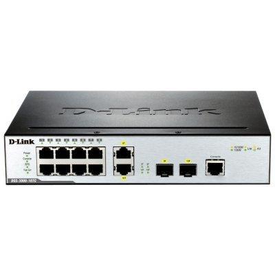 Коммутатор D-Link DGS-3000-10TC (DGS-3000-10TC/A1A)Коммутаторы D-Link<br>10-Port Management L2 Gigabit Switch<br>