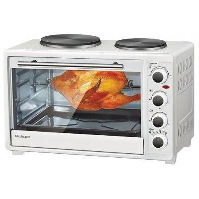 Мини-печь Rolsen KW-3026HP White (KW-3026HP WHITE)Минипечи Rolsen<br>Мощность: 1500 Вт. Объём камеры: 30 л. Управление: механическое, габариты ( В*Ш*Г) 36х52,2х33,8 см<br>