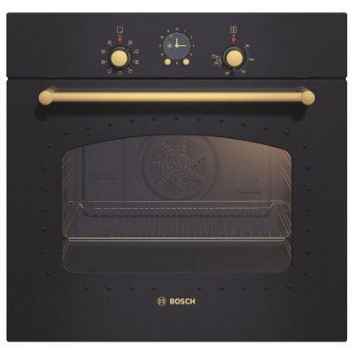 Электрический духовой шкаф Bosch HBA23RN61 (HBA23RN61)Электрические духовые шкафы Bosch<br>ширина 60 см, MultiFunction 2D, дизайн Nostalgie, 7 режимов нагрева, 3-слойное остекление, объем духовки 53л, телескопические направляющие на 1 уровне, аналоговые часы с таймером, самоочистка EcoClean (задняя стенка)<br>