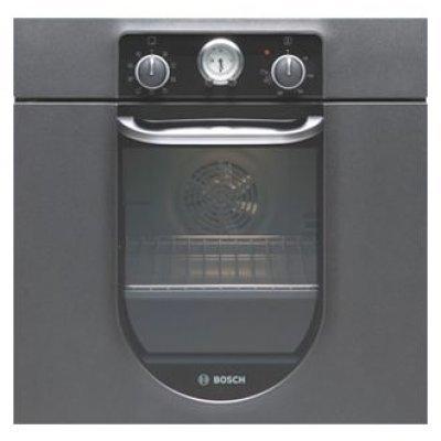 Электрический духовой шкаф Bosch HBA23BN31 (HBA23BN31)Электрические духовые шкафы Bosch<br>ширина 60 см, MultiFunction 2D, дизайн Nostalgie, 7 режимов нагрева, 3-слойное остекление, объем духовки 53л, аналоговые часы с таймером, быстрый разогрев, класс А энергопотребления, цвет: антрацит<br>