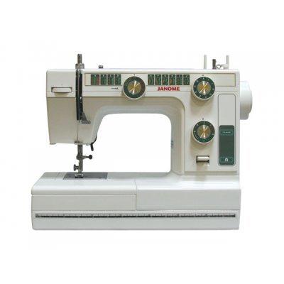 Швейная машина Janome LE22 (Janome LE22)Швейные машины Janome<br>электромеханическая, качающийся челнок, швейных операций - 21, петля-полуавтомат<br>