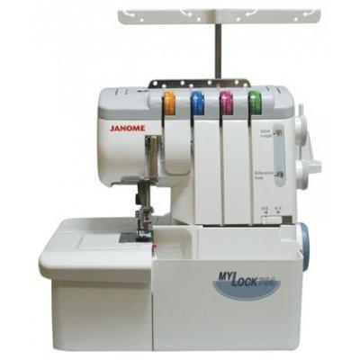 Швейная машина Janome MyLock 784D (744D) (MYLOCK 784)Швейные машины Janome<br>оверлок, 2, 3, 4-ниточный, дифференциальная подача, скорость шитья 1300 ст/мин<br>