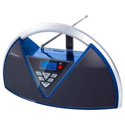 Аудиомагнитола Rolsen RBM-215MURBU синий/черный (1-RLAM-RBM215MURBU)Аудиомагнитолы Rolsen<br><br>