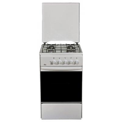 Газовая плита Flama RG2401W (RG2401W)Газовые плиты Flama<br>4-х горелочная, улучшенная конструкция стола, новая горелочная группа, газконтроль духовки<br>