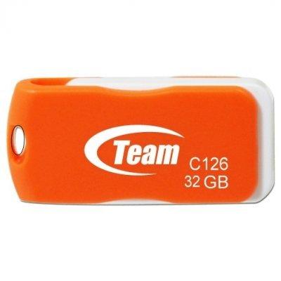 USB накопитель 32Gb TEAM C126 Drive, Orange (765441008649) (TC12632GE01), арт: 151938 -  USB накопители Team Group