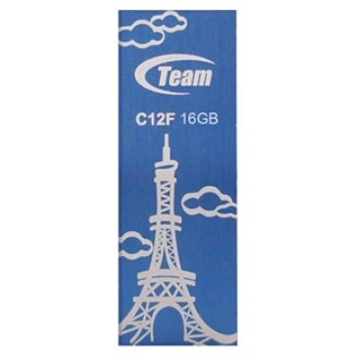 USB накопитель  16Gb TEAM C12F Drive, Blue (765441008779) (TC12F16GL01)USB накопители Team Group<br>Flash USB 2.0, Retail<br>