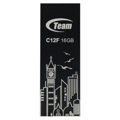 USB накопитель  16Gb TEAM C12F Drive, Black (765441008731) (TC12F16GB01)USB накопители Team Group<br>Flash USB 2.0, Retail<br>