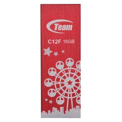 USB накопитель  16Gb TEAM C12F Drive, Red (765441008816) (TC12F16GR01) цена 2017