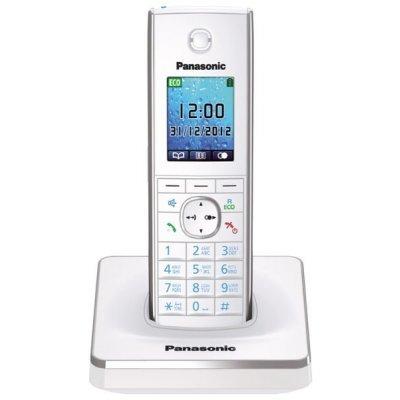 Радиотелефон Panasonic KX-TG8551 белый (KX-TG8551RUW) радиотелефон panasonic kx tg8551 черный