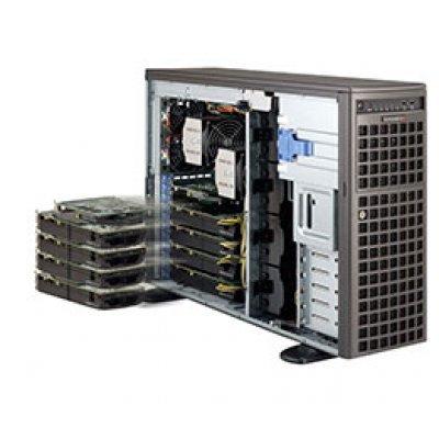 Серверная платформа SuperMicro SYS-7047A-T (SYS-7047A-T)Серверные платформы SuperMicro<br>X9DAi, CSE-743TQ-1200B-SQ; LGA2011 DUAL,C602,SATA RAID,8x3.5   HotSwap,2xGbLAN,16xDDRIII DIMM,4U,Tower/rackmount,1200W<br>