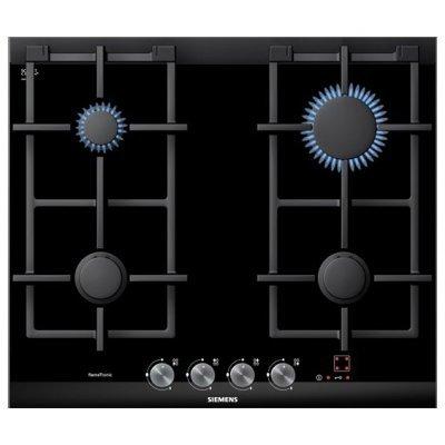 Газовая варочная поверхность Siemens ER626PF70E (ER626PF70E)Газовые варочные панели Siemens<br>50х60.2, стеклокерамика, независимая, черный<br>