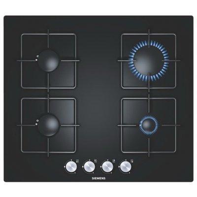 Газовая варочная поверхность Siemens EP616PB11E (EP616PB11E)Газовые варочные панели Siemens<br>60х52, закаленное стекло, независимая, черный<br>