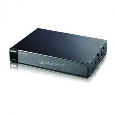 Коммутатор ZyXEL ES1100-16P (ES1100-16P)Коммутаторы ZYXEL<br>16-портовый коммутатор Fast Ethernet c 8 портами PoE<br>