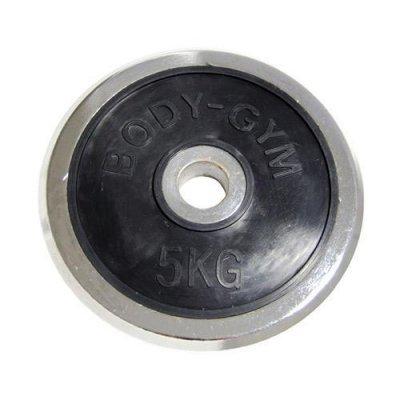 Блин хромированный Body Gym 5.0кг (Body Gym 5.0кг)Блины для гантелей и штанг Body Gym<br>с обрезин.центром<br>