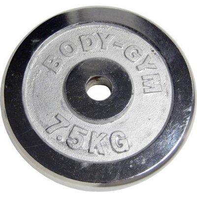 Блин хромированный Body Gym d.31мм 7.5кг (Body Gym d.31мм 7.5кг)Блины для гантелей и штанг Body Gym<br>WP06-7.5<br>