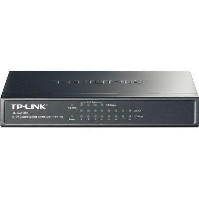 Коммутатор TP-Link TL-SG1008P (TL-SG1008P)Коммутаторы TP-link<br>8PORT 10/100/1000M/POE<br>