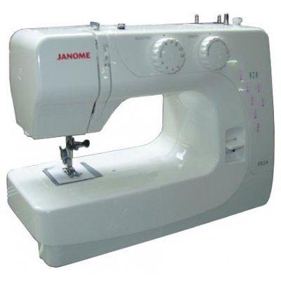 Швейная машина Janome PX14 (Janome PX14)Швейные машины Janome<br>электромеханическая, качающийся челнок, швейных операций - 14, петля-полуавтомат<br>