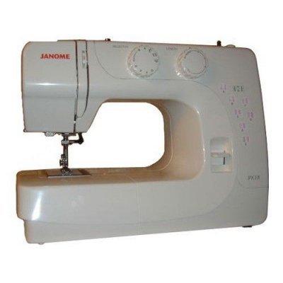 Швейная машинка Janome PX 18 (Janome PX 18)Швейные машины Janome<br>электромеханическая, качающийся челнок, швейных операций - 13, петля-полуавтомат<br>