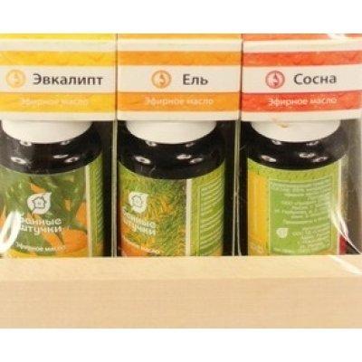 Эфирное масло Банные штучки 32157 (32157)Эфирные масла Банные штучки<br>32157 Набор эф.масел(эвка-пт.ель,сосна)на/дер/полБанные штучки<br>