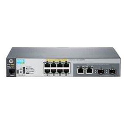 Коммутатор HP 2530-8 (J9783A) (J9783A)Коммутаторы HP<br>Switch (8 x 10/100 + 2 x SFP or 10/100/1000, Managed, L2, virtual stacking, 19)<br>