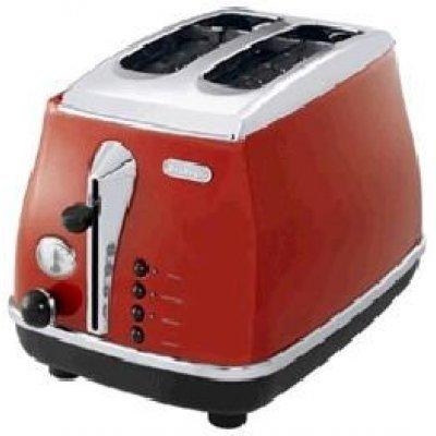Тостер Delonghi CTO 2003 R (CTO 2003 R)Тостеры Delonghi<br>тостер на 2 тоста мощность 900 Вт механическое управление функция обжаривания с одной стороны функция размораживания металлический прочный корпус<br>