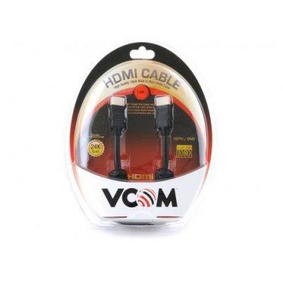 Кабель VCOM HDMI 19M/M ver:1.4-3D, 1,8m, позолоченные контакты, 2 фильтра  Blister (VHD6020D-1.8MB)Кабели HDMI VCOM<br><br>