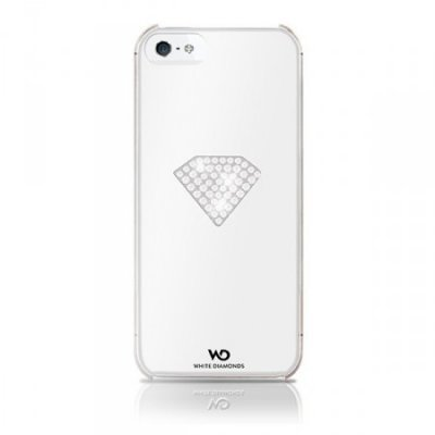 Чехол White Diamonds Rainbow White для  Apple iPhone 5/5s/SE (WD-1210RAI47)Чехлы для смартфонов White Diamonds<br>пластик, украшен кристаллами Swarovski, белый<br>