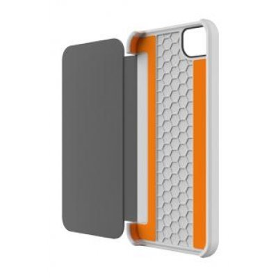 Чехол Tech21 T21-1819 для Apple iPhone 5/5s/SE белый (T21-1819)Чехлы для смартфонов Tech21<br>книжка, пластик, Impact Snap with Cover, спецзащита от падений D3O<br>