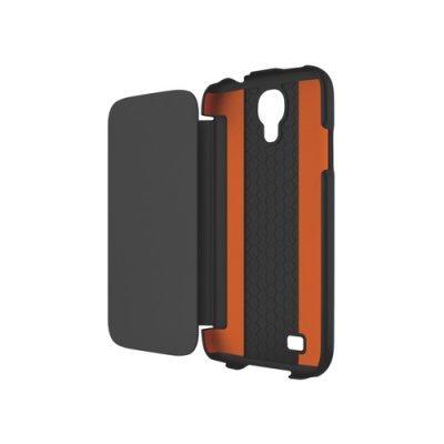 Чехол Tech21 T21-3133 для Samsung Galaxy S4 чёрный (T21-3133)Чехлы для смартфонов Tech21<br>книжка, Impact Snap with Cover, спецзащита от падений D3O<br>