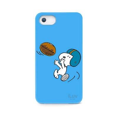 Чехол iLuv Snoopy Sports Series для Apple iPhone 5/5s/SE синий (iLuv-ICA7H383BLU)Чехлы для смартфонов iLuv<br>жёсткий пластик<br>