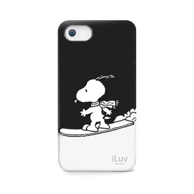 Чехол iLuv Snoopy Sports Series для Apple iPhone 5/5s/SE чёрный (iLuv-ICA7H383BLK) coteetci w6 luxury stainless steel magnetic watchband for apple watch series 1 series 2 38mm gold