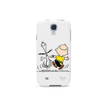 Чехол iLuv Snoopy для Samsung Galaxy S4 белый (iLuv-SS4SNOOWH)Чехлы для смартфонов iLuv<br>из жесткого пластика<br>