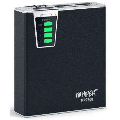 Внешний аккумулятор HIPER Power Bank MP7500 черный (MP7500 Black)