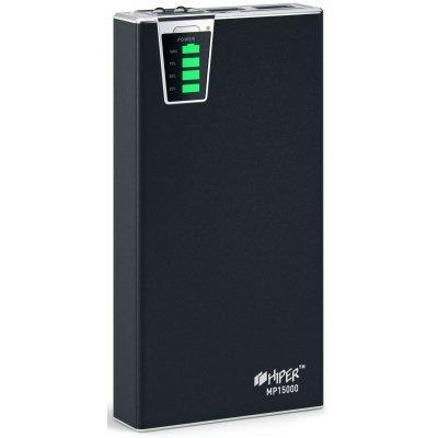 Внешний аккумулятор HIPER Power Bank MP15000 черный (MP15000 Black)