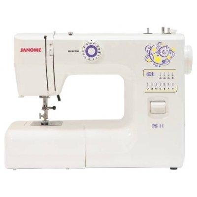 Швейная машина Janome PS-11 белый (PS-11 белый)Швейные машины Janome<br>Тип швейной машинки. электромеханическая. Челнок<br>