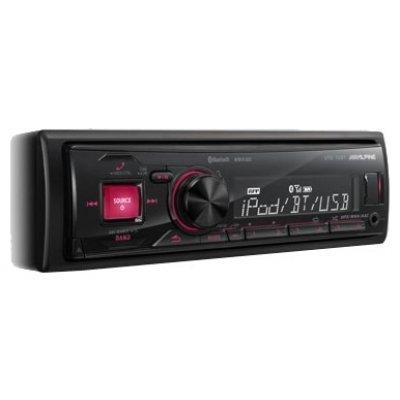 Автомагнитола Alpine UTE-72BT (UTE-72BT)Автомагнитолы Alpine<br>автомагнитола 1 DIN<br>макс. мощность 4 x 50 Вт<br>воспроизведение с USB-накопителя и iPod<br>аудиовход на передней панели<br>радиоприемник  с RDS<br>