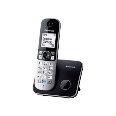 Радиотелефон Panasonic KX-TG6811черный (KX-TG6811RUB) радиотелефон dect panasonic kx tg6722rub черный