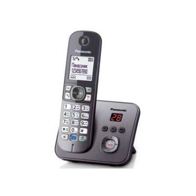 Радиотелефон Panasonic KX-TG6821 серый металлик (KX-TG6821RUM) радиотелефон panasonic kx tg8551 белый kx tg8551ruw