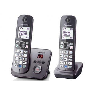 Радиотелефон Panasonic KX-TG6822 серый металлик (KX-TG6822RUM)