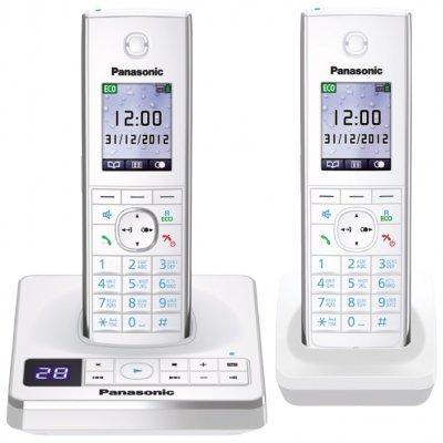 Радиотелефон Panasonic KX-TG8562RUW белый (KX-TG8562RUW) радиотелефон panasonic kx tg1711 белый kx tg1711ruw